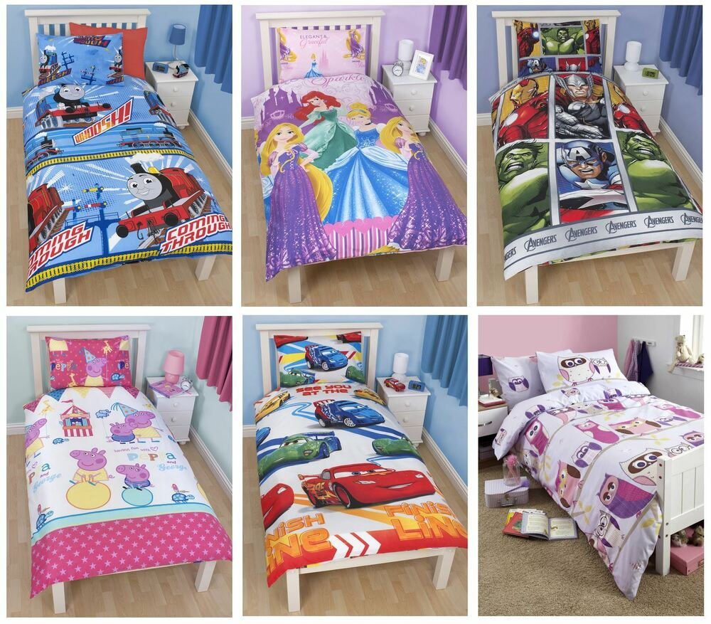 Official Kids Disney Character Single Duvet Covers