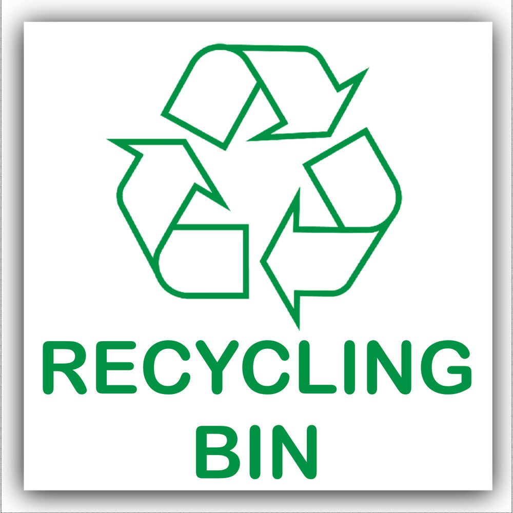 It is a graphic of Peaceful Printable Recycling Signs for Bins