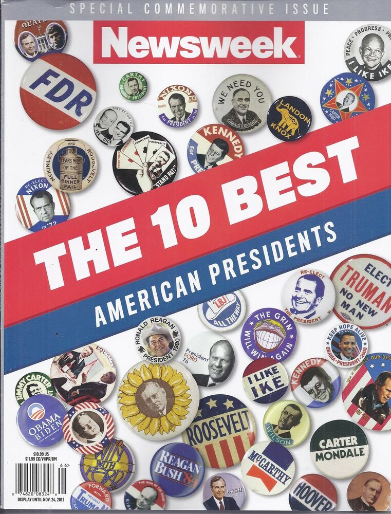 newsweek magazine the 10 best american presidents special commemorative issue ebay. Black Bedroom Furniture Sets. Home Design Ideas