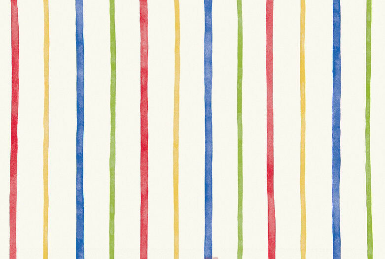 Blue And Yellow Striped Wallpaper: Multi Color Rainbow Blue Red Yellow Green Thin Stripe