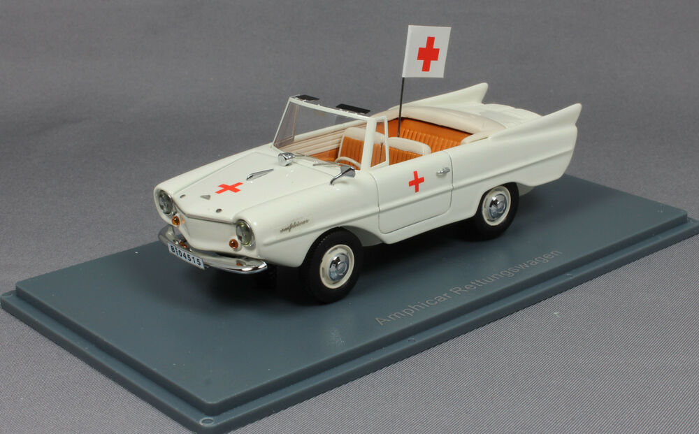 neo models amphicar ambulance amphibie voiture 1961 43180 1 43 neuf ebay. Black Bedroom Furniture Sets. Home Design Ideas