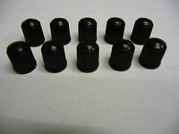 10 x New Black Plastic Valve Dust Caps Car Tyre Tube Bike Bicycle Valve Cap