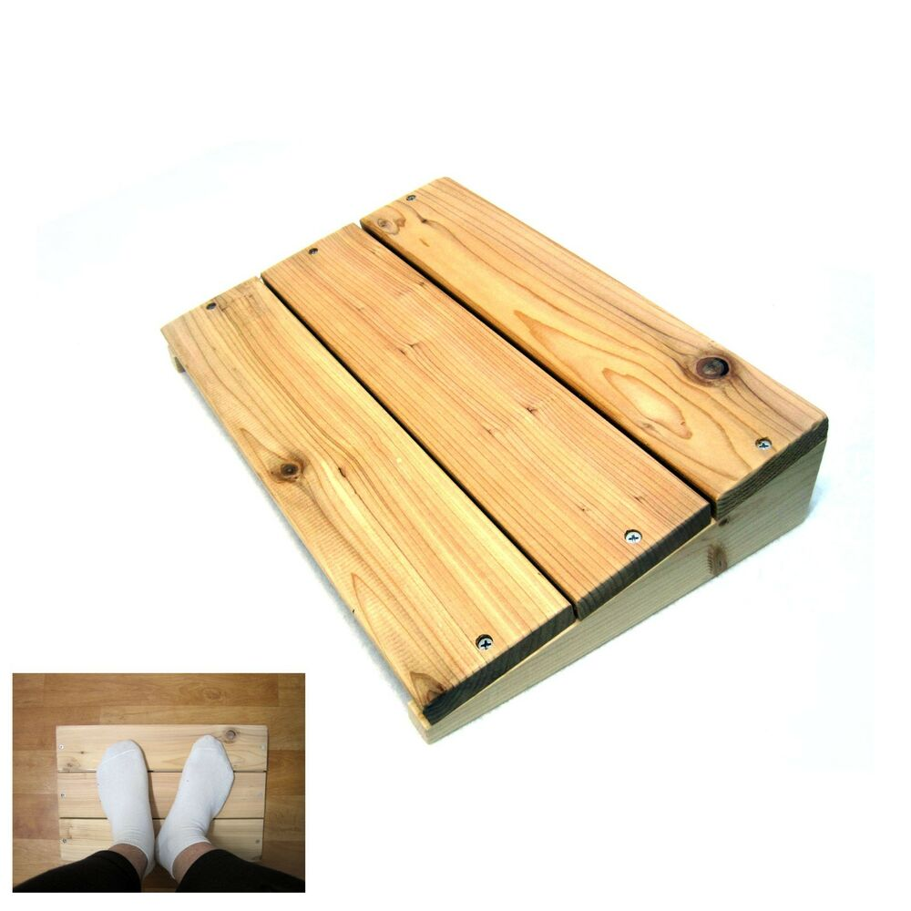 Eco Western Red Cedar Foot Rest Stool Desk Furniture Odor