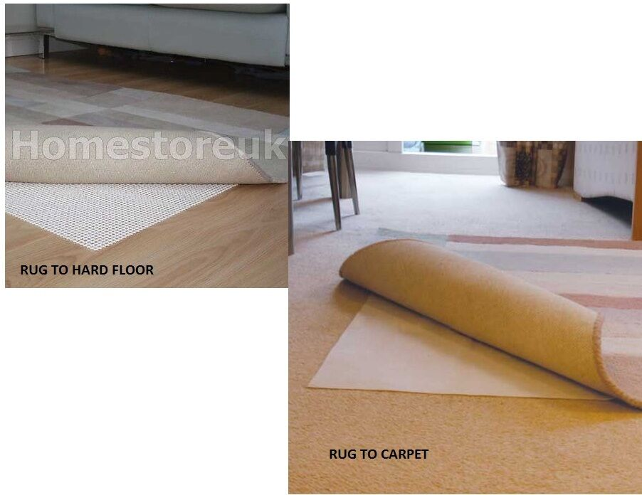 Rug Safe Mat For Carpet Or To Wood Hard Floor Gripper Non