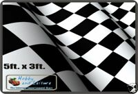 Flag,Chequered - Black and White 5ft.x 3ft,152cm x 90cm