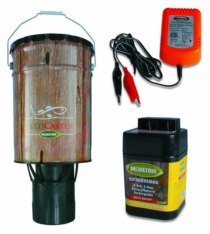 Moultrie 6 gallon automatic pond fish feeder 6v for Automatic fish feeder walmart