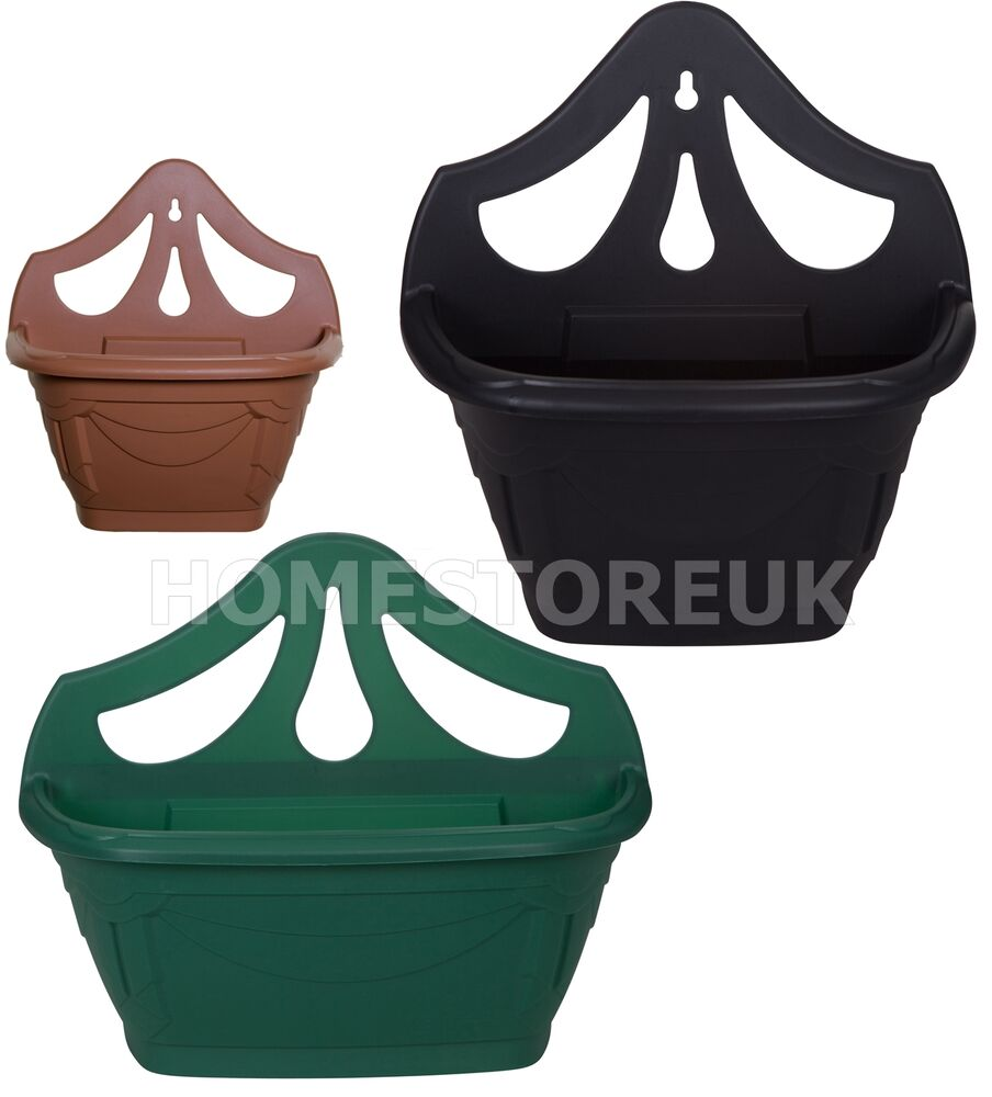 Plastic Hanging Baskets For Plants: WALL FENCE HANGING PLANTER PLANT FLOWER POT PLASIC