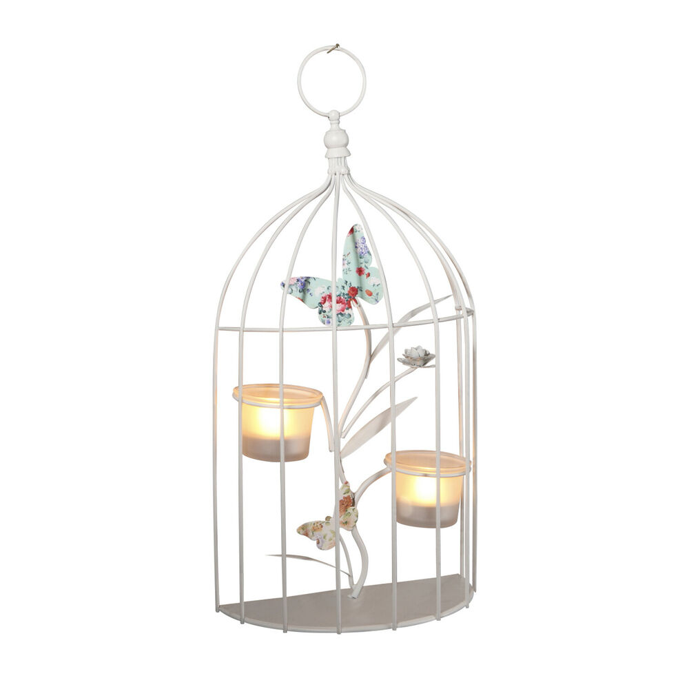 WALL TEA LIGHT HOLDER BUTTERFLY HANGING CREAM METAL DECORATIVE WEDDING PARTY eBay