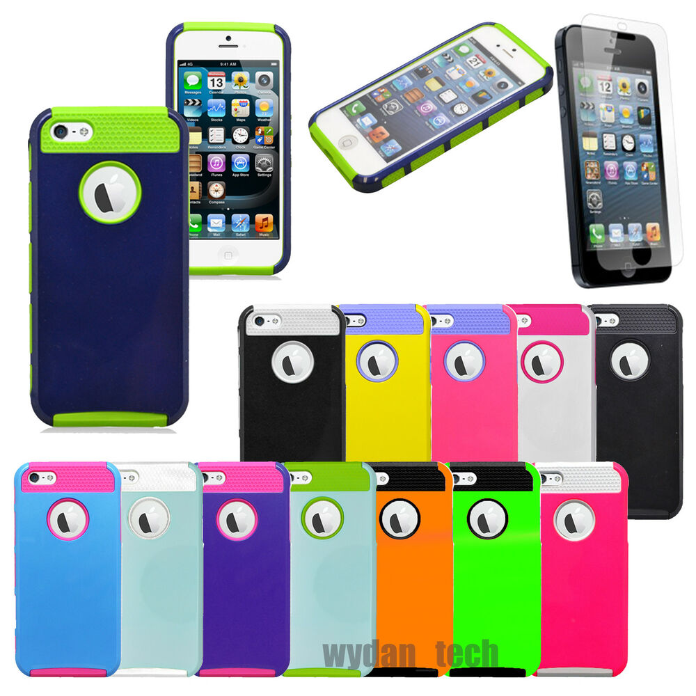 iphone 5c for sale ebay for iphone 5s 5c 4s black rugged rubber matte heavy duty 9682