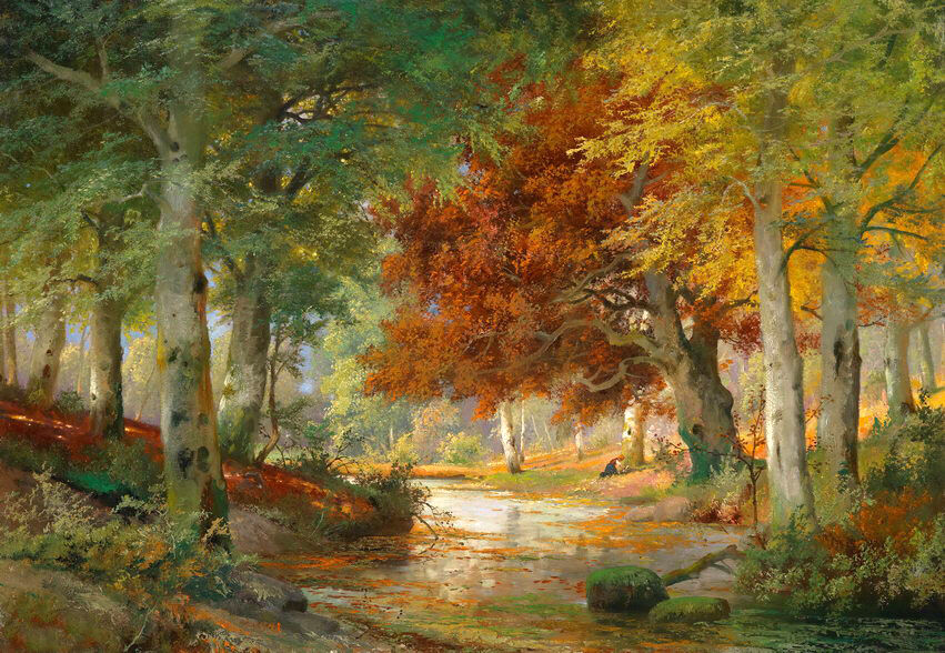Forest Painting Oil