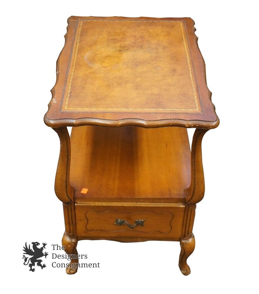 Vintage Small End Side Accent Nightstand Table 18 X 26 X