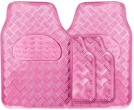 Metallic Girls Pink Heavy Duty Checker Plate Rubber