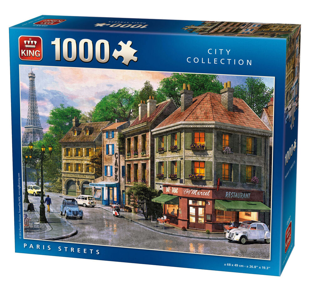 1000 piece jigsaw puzzle paris france french street eiffel tower scene 05357 ebay. Black Bedroom Furniture Sets. Home Design Ideas