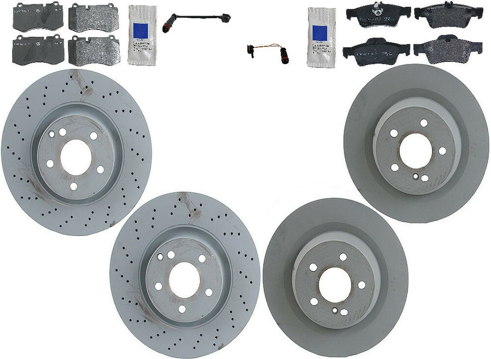 Mercedes w221 s550 4matic 07 12 genuine complete brake kit for Mercedes benz rotors