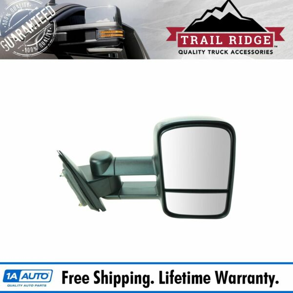 Trail Ridge Towing Mirror Manual Textured Passenger Side Right RH for Chevy GMC