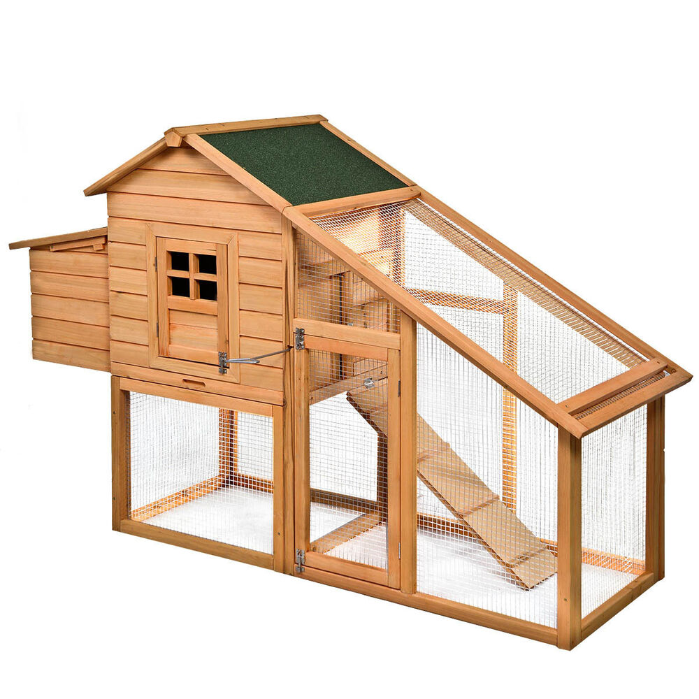 75 Quot Deluxe Wooden Chicken Coop Backyard Nest Box Hen House