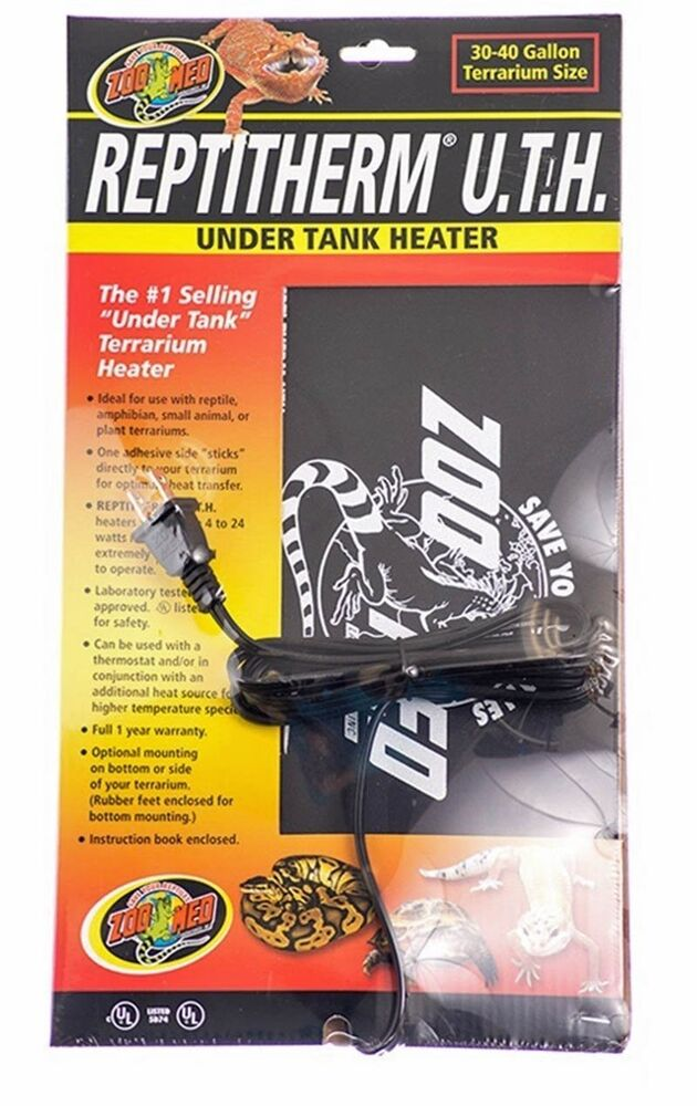Zoo Med Reptitherm Under Tank Heater 30 40 Gal Ebay