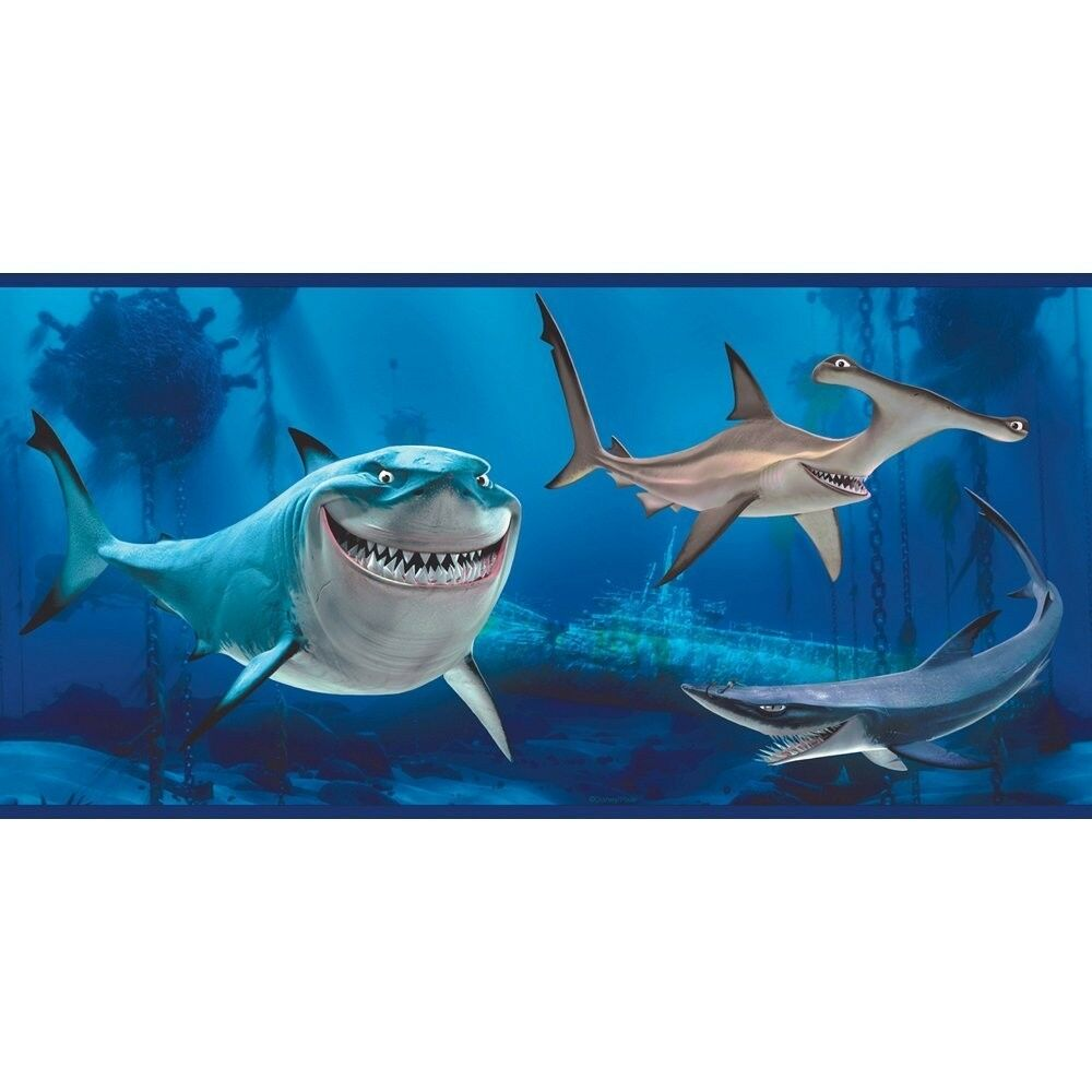 disney finding nemo sharks wall border featuring bruce