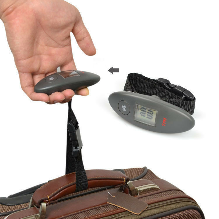 Portable electronic luggage scale travel lcd hand scale for Fishing weights walmart