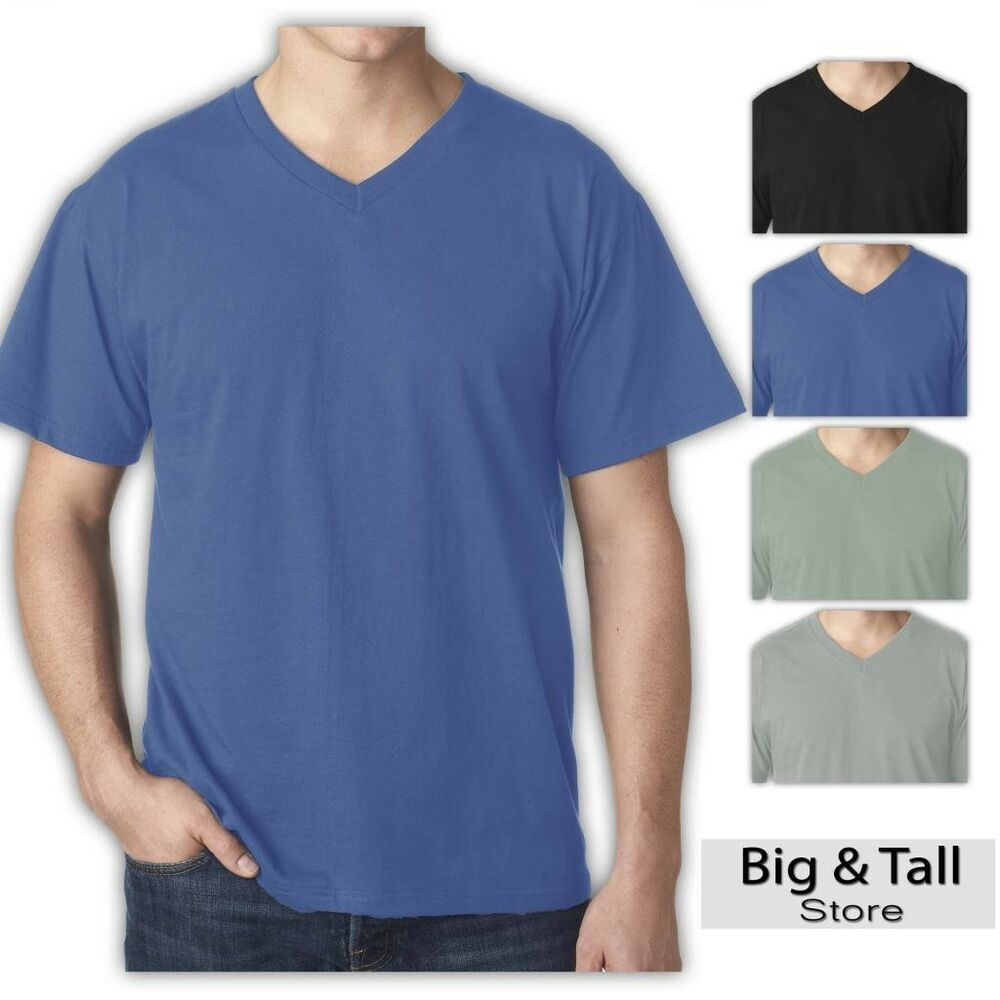 Big and tall men 39 s cotton v neck t shirt by falcon bay 3xl for Tall mens dress shirts