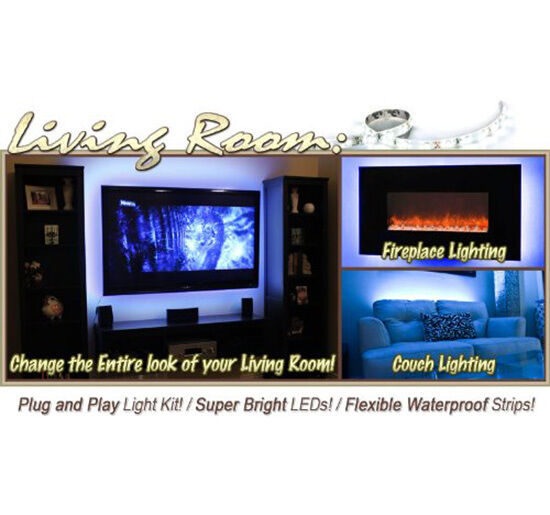 2x40 2x50cm 5050 RGB LED Mood Lighting Ideas TV Back Light 16 Colours Chang