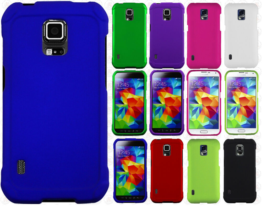 Samsung Galaxy S5 Active G870 Rubberized HARD Case Phone ...