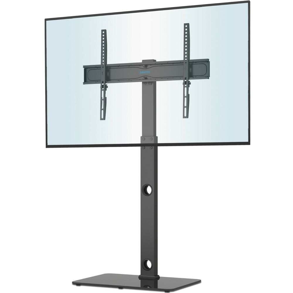 Glass TV Stand With Bracket 2 Shelves For 27 To 55 Inches