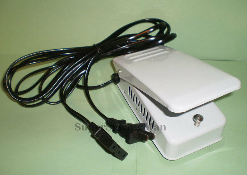 power cord and foot pedal for sewing machine