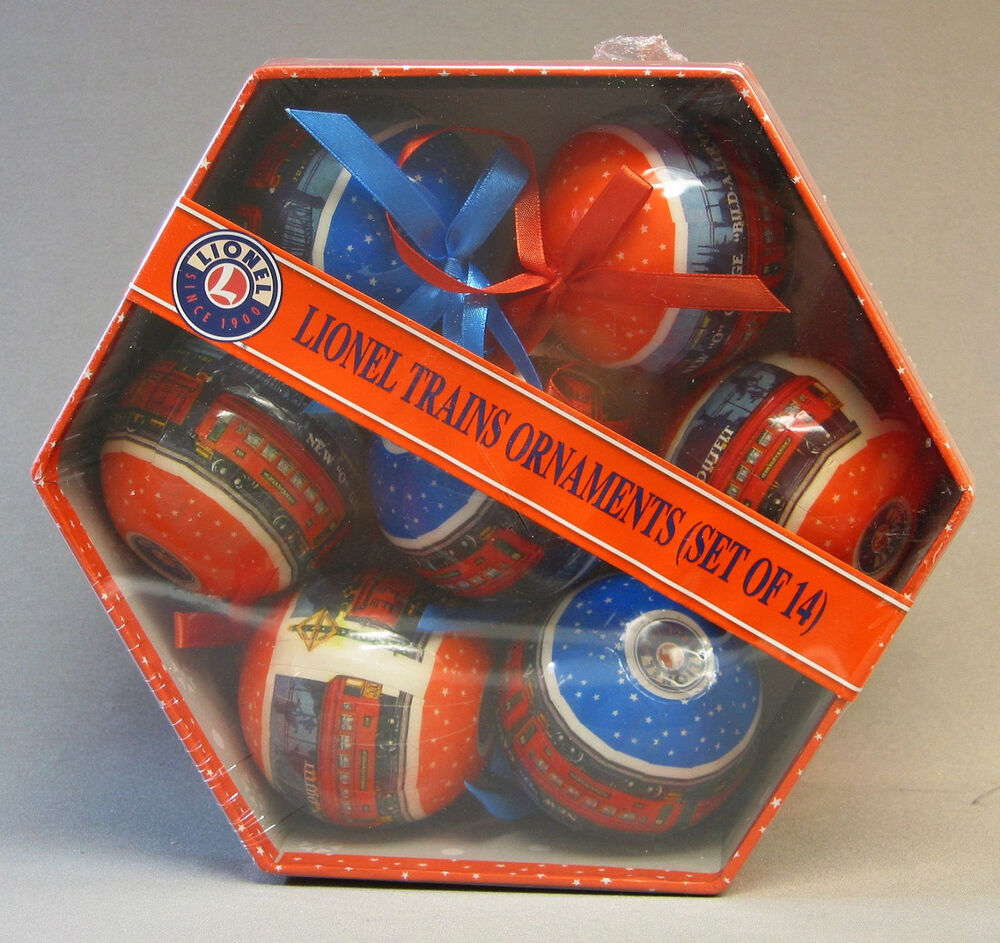 Christmas Toys Trains : Lionel pre war ornament gift box ornaments train