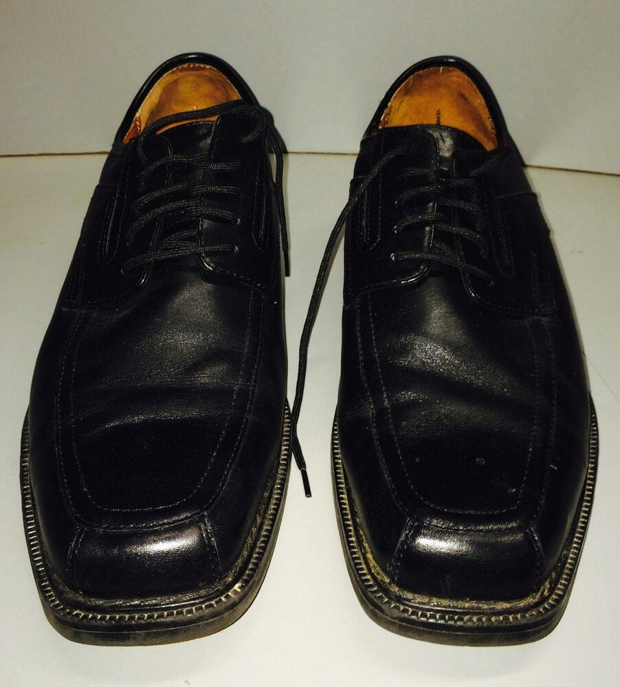 Allen Solly Mens Leather Dress Shoes Size 11.5 / 11 1/2 ...