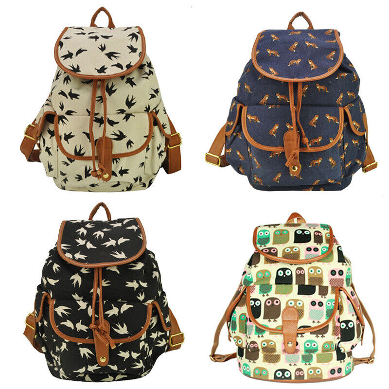 Cute bags for school ebay - Canvas Travel Satchel Shoulder Bag Backpack School Rucksack Ebay
