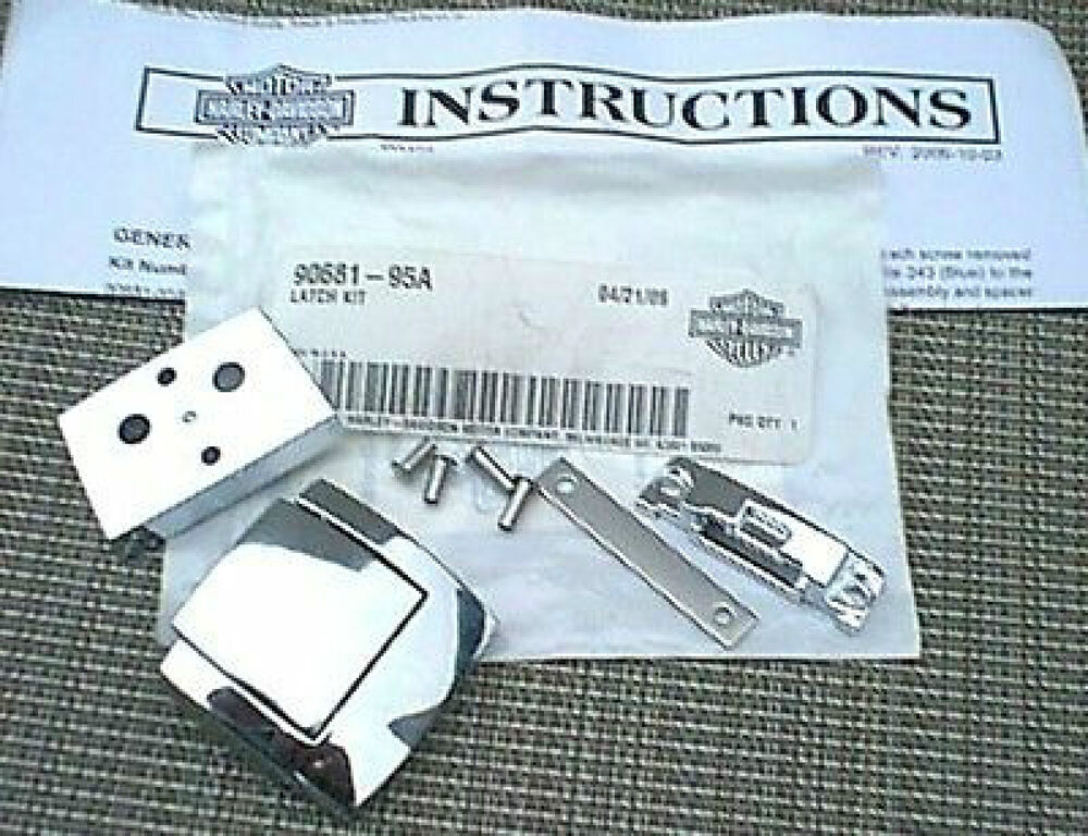 Harley Davidson Tour Pak Saddlebag Latch Kit 90681 95a