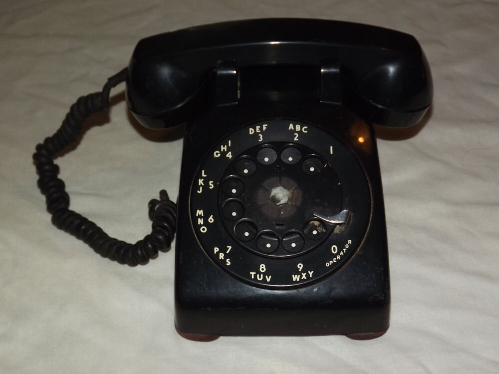 VINTAGE BELL SYSTEM PROPERTY WESTERN ELECTRIC BLACK ROTARY