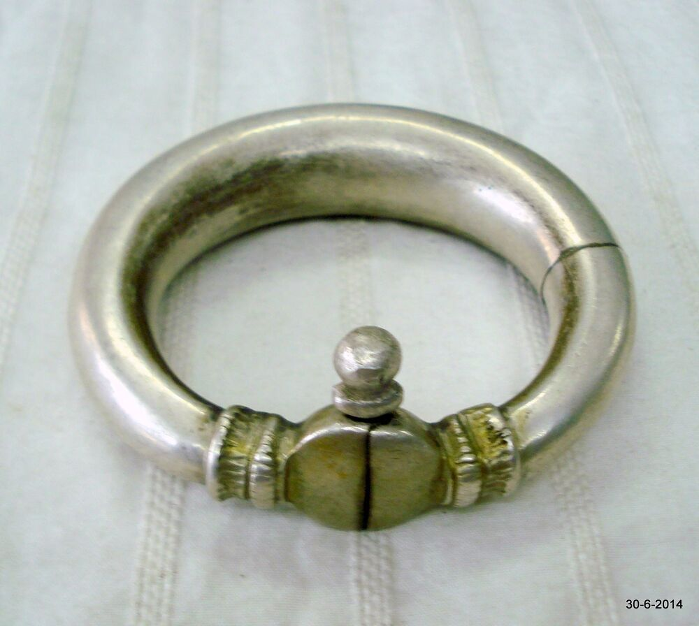 vintage antique tribal silver bracelet bangle cuff