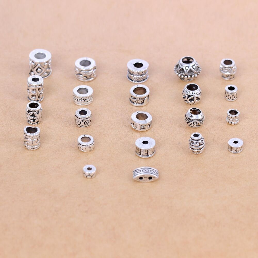 Silver Beads: Jewelry Making Beads Tibetan Silver Spacer Beads For DIY