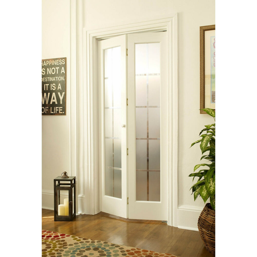 American Wood Mission Frosted Bi Fold Door Ebay
