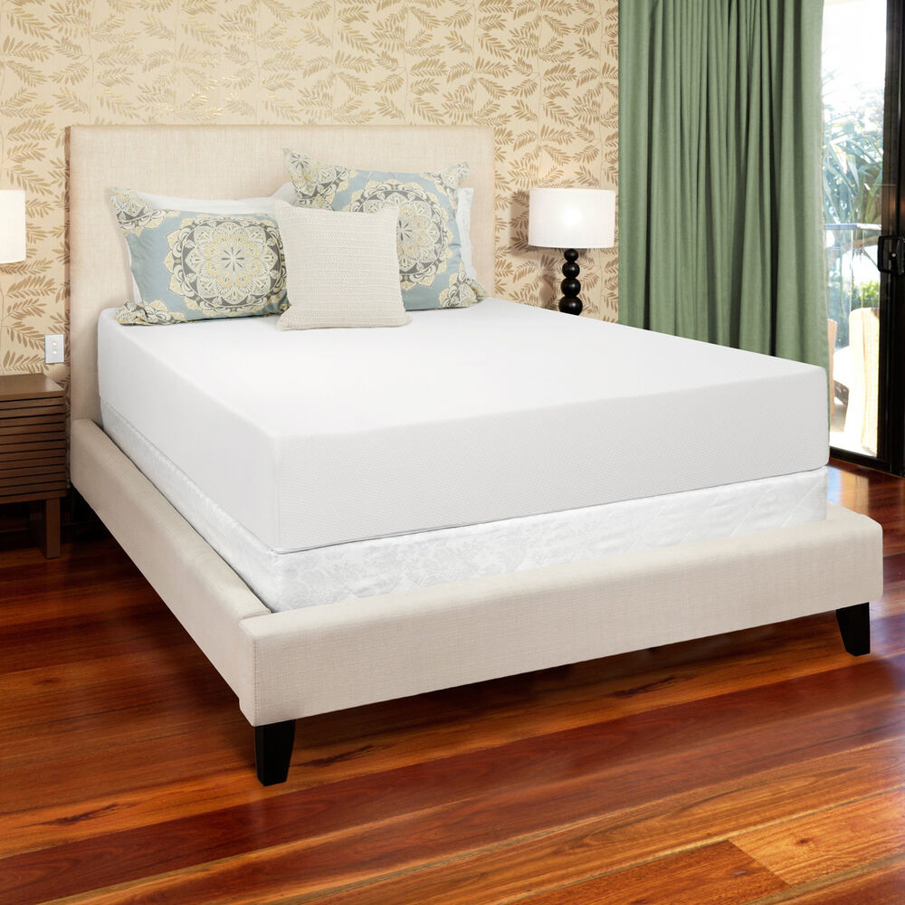 select luxury 12 inch queen size medium firm gel memory foam mattress ebay. Black Bedroom Furniture Sets. Home Design Ideas