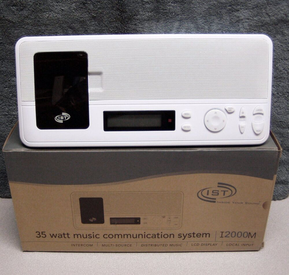intrasonic i2000m new home intercom system ipod dock ist ebay. Black Bedroom Furniture Sets. Home Design Ideas