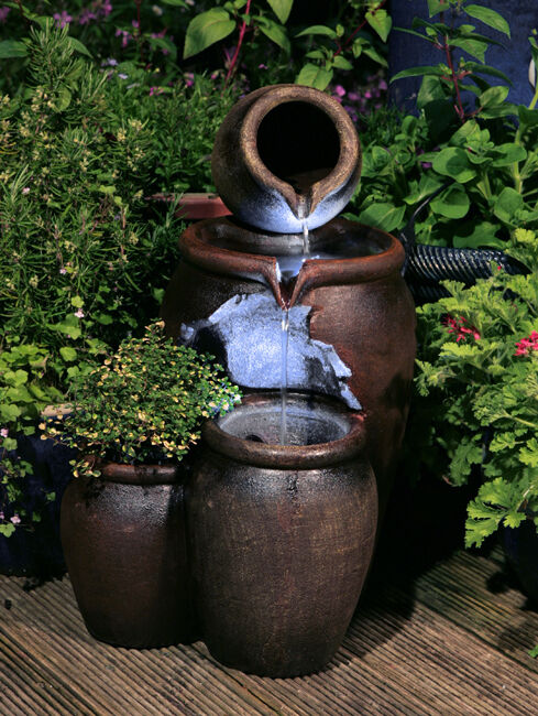 Jug Pot Water Feature Fountain Vintage Style Cascade 2