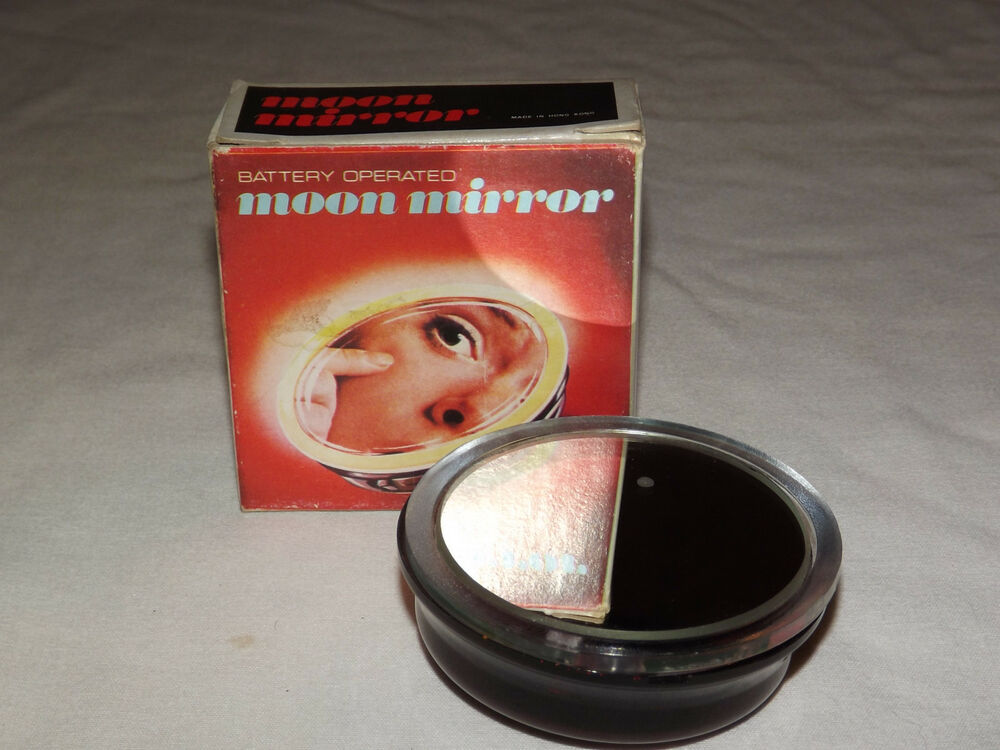 Vintage 1970 80s Battery Operated Moon Mirror In Box Ebay