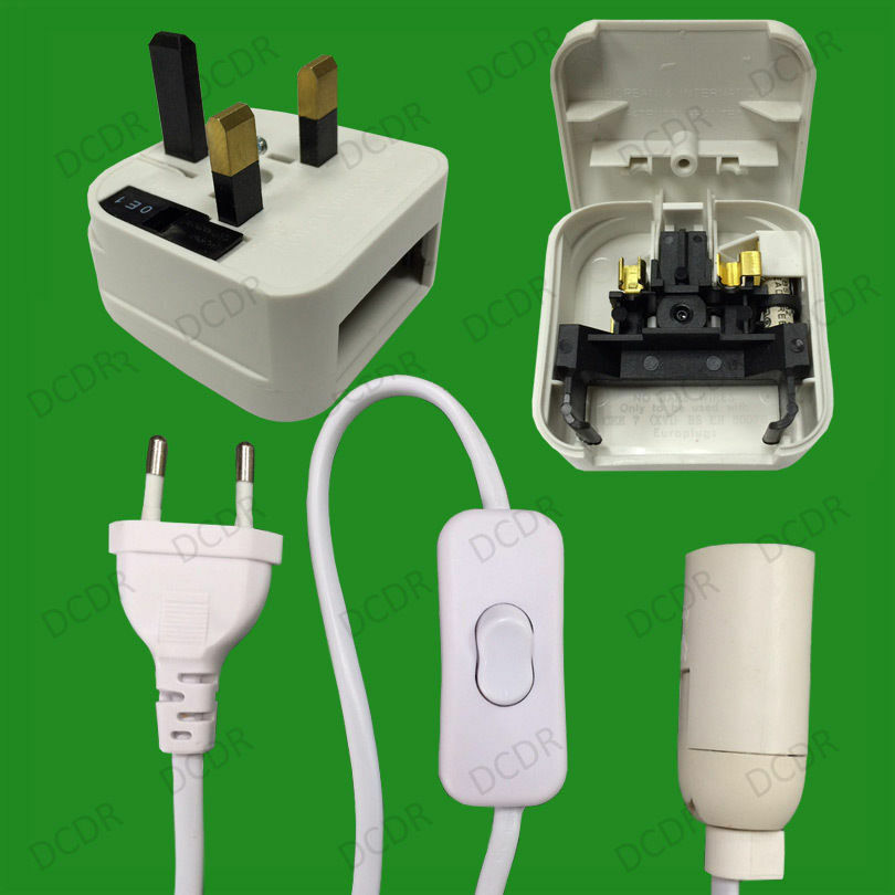 Table Light Switch : Plug in e ses light bulb holder with inline switch