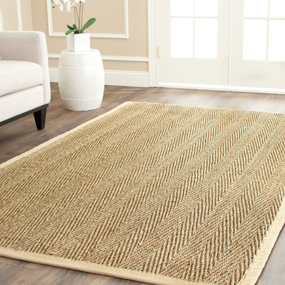 Safavieh casual natural fiber warm hand woven sisal for Ikea grass rug