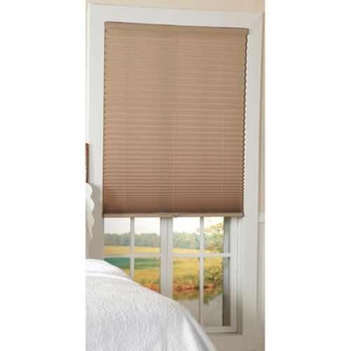 light filtering taupe cordless pleated shades ebay. Black Bedroom Furniture Sets. Home Design Ideas