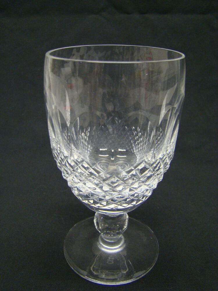 Waterford colleen short stem claret wine glasses clear cut crystal ebay - Wedgwood crystal wine glasses ...