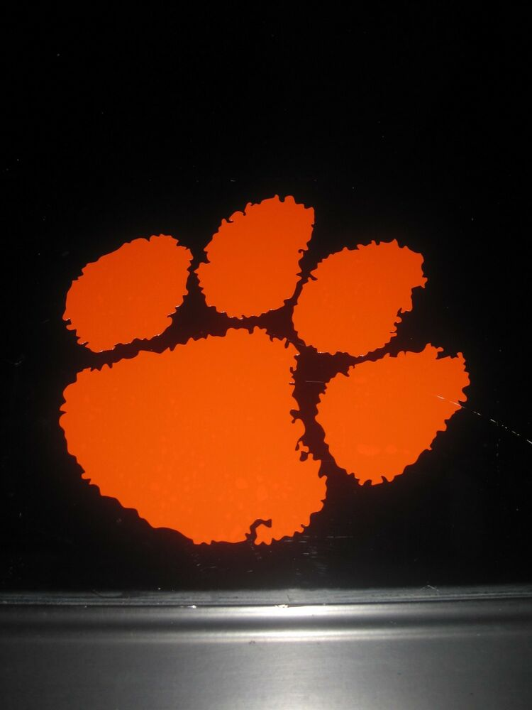 Clemson University Tiger S Paw College School Vinyl Decal