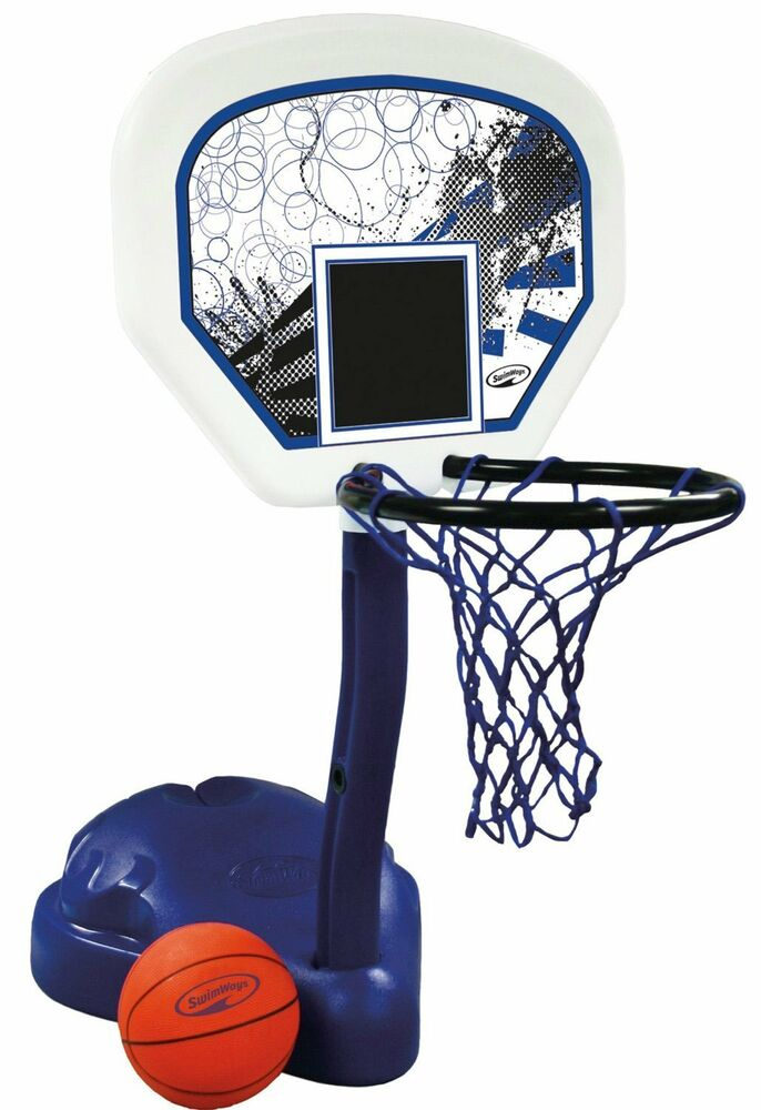 Swimways Poolside Basketball Hoop Pool Water Game Set With Ball 12265 Ebay