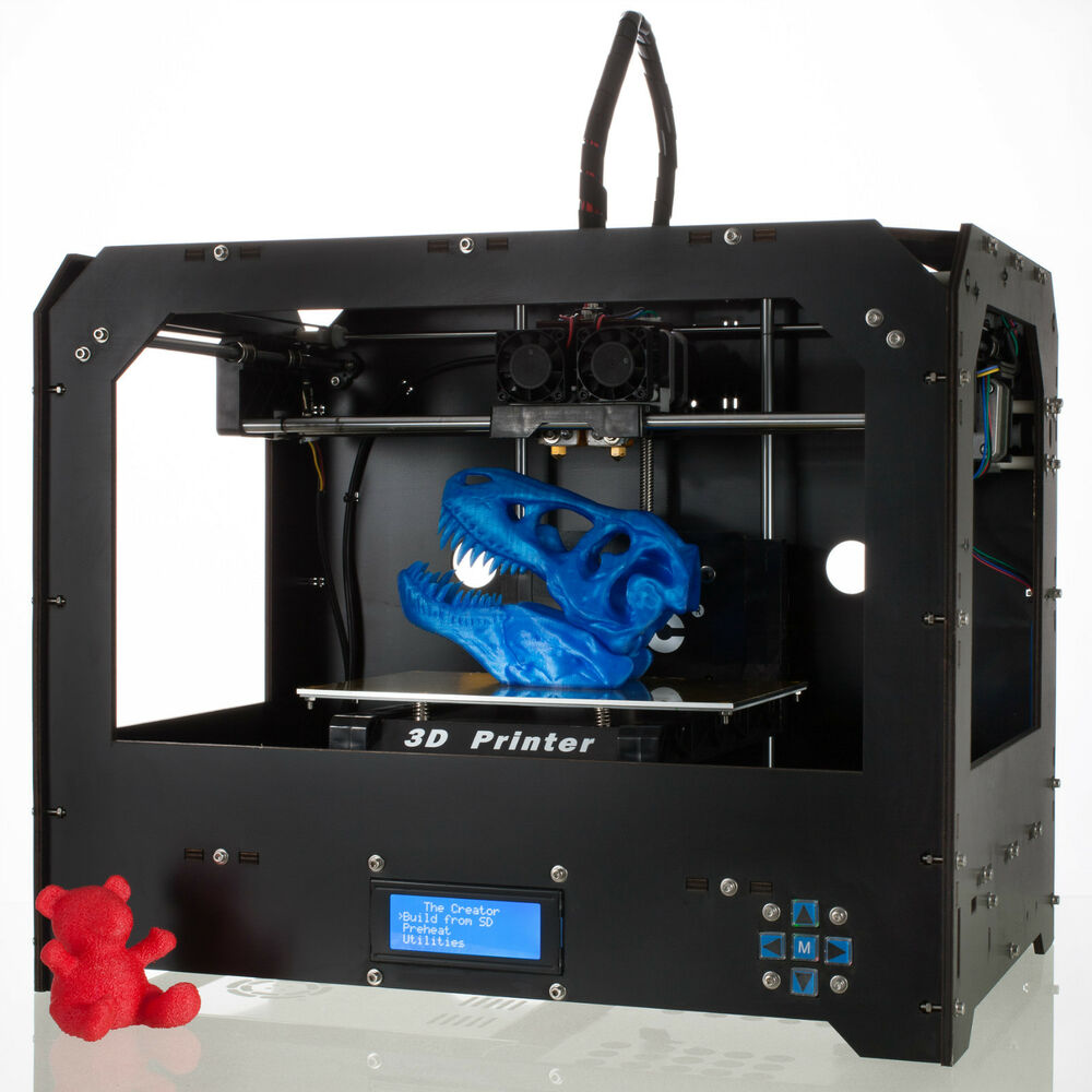 black 3d printer for makerbot replicator 2 1 roll free pla or abs filament ebay. Black Bedroom Furniture Sets. Home Design Ideas