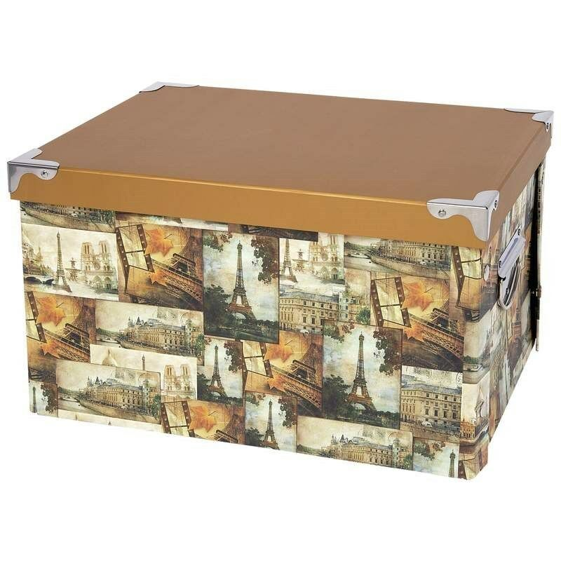 Decorative Storage Boxes Uk : Decorative storage box large european travel paris eiffel