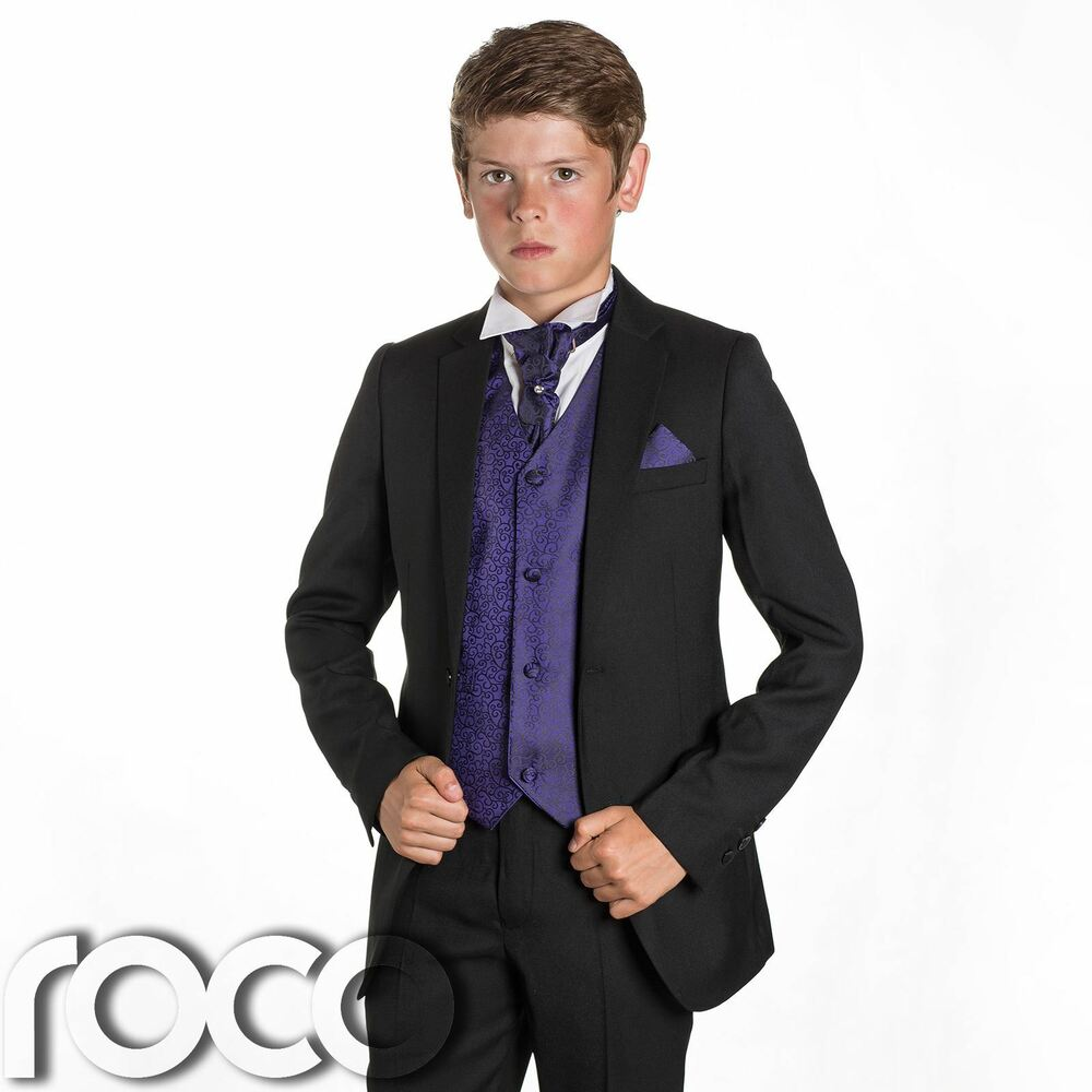 Sute For Formal: Boys Black Suit, Page Boy Suits, Prom Suits, Boys Wedding