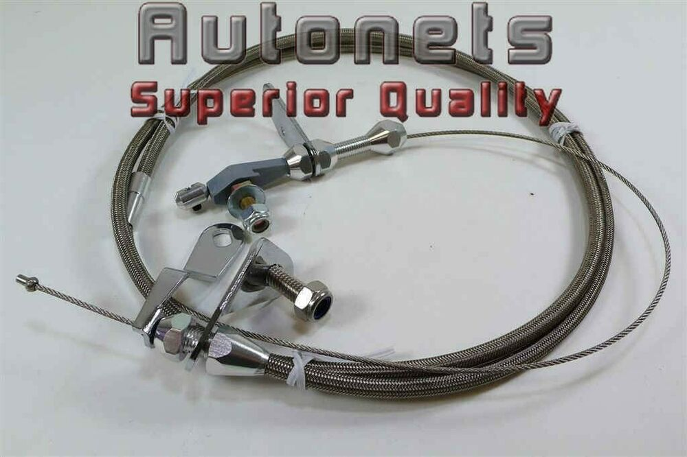 Braided Stainless Steel Ford C6 C 6 Flexible Kickdown